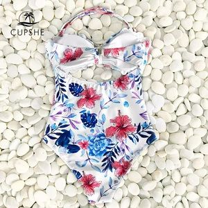 Cupshe Swim - Cupshe Scalloped Trim One Piece Floral Swimsuit